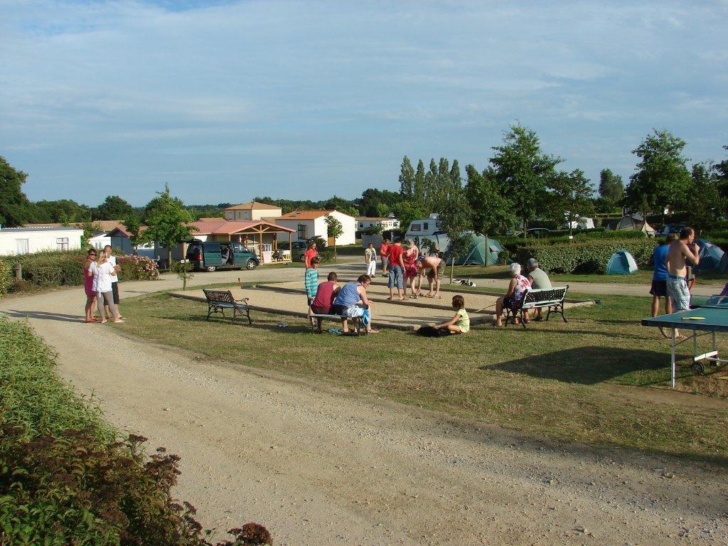 le boulodrome du camping Val de Vie en Vendée