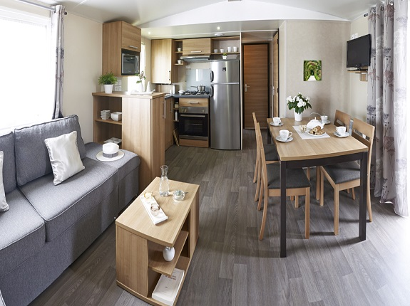 Mobil-home luxe 6-8 pers. avec terrasse