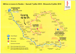 Carte Tour de France 2018 Etape Vendée