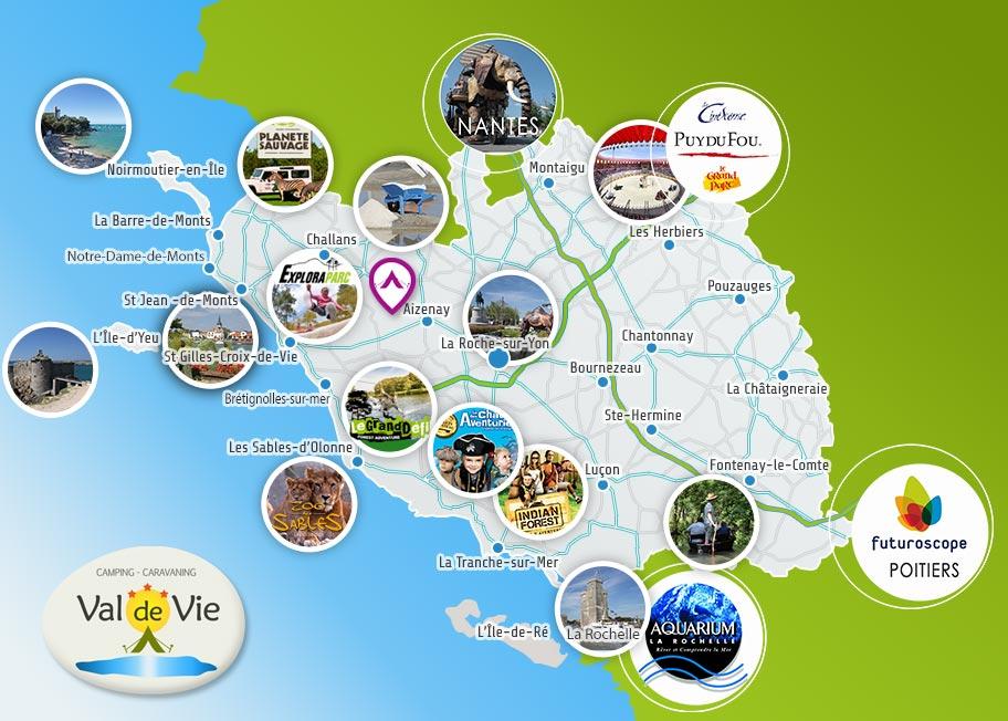 Découvrez la Vendée grâce à votre location au camping Val de Vie